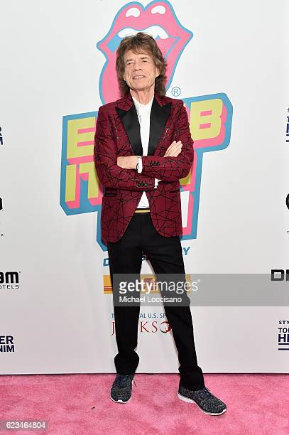 Mick Jagger of The Rolling Stones attends The Rolling Stones celebrate the North American debut of Exhibitionism at Industria in the West Village on...