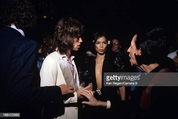 Mick Jagger of the Rolling Stones Bianca Jagger and Diana Vreeland are photographed in 1975 in New York City CREDIT MUST READ Ken Regan/Camera 5 via...