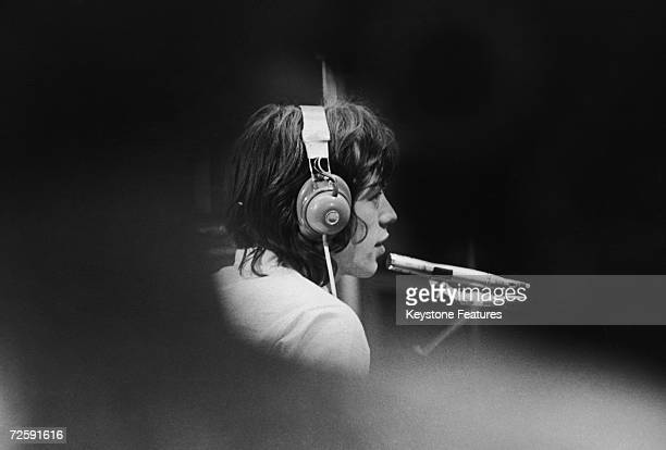 Mick Jagger of The Rolling Stones in a London recording studio during the filming of French film director JeanLuc Godard's 'Sympathy For the Devil'...