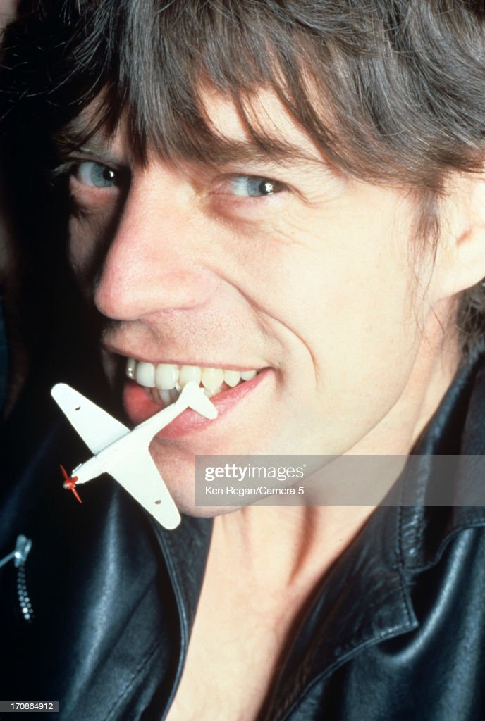 Mick Jagger of the Rolling Stones is photographed at a portrait shoot in the 1980's in New York City.