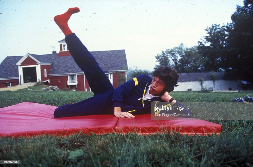 Mick Jagger of the Rolling Stones is photographed at Longview Farm in September 1981 in Worcester, Massachusetts.