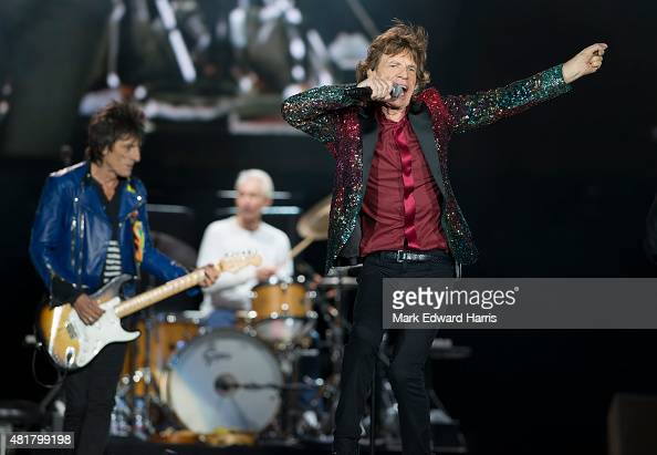Mick Jagger of 'The Rolling Stones' is photographed at the Quebec Music Festival in Quebec City for Self Assignment on July 16 2015
