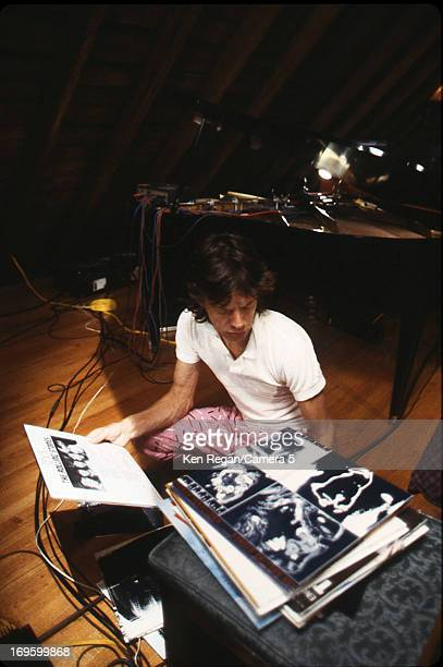 Mick Jagger of the Rolling Stones is photographed while recording at Longview Farm in September 1981 in Worcester Massachusetts CREDIT MUST READ Ken...