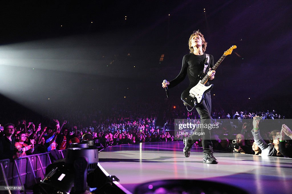 <a gi-track='captionPersonalityLinkClicked' href=/galleries/search?phrase=Mick+Jagger&family=editorial&specificpeople=201786 ng-click='$event.stopPropagation()'>Mick Jagger</a> of The Rolling Stones perfoms at The O2 Arena on November 29, 2012 in London, England.