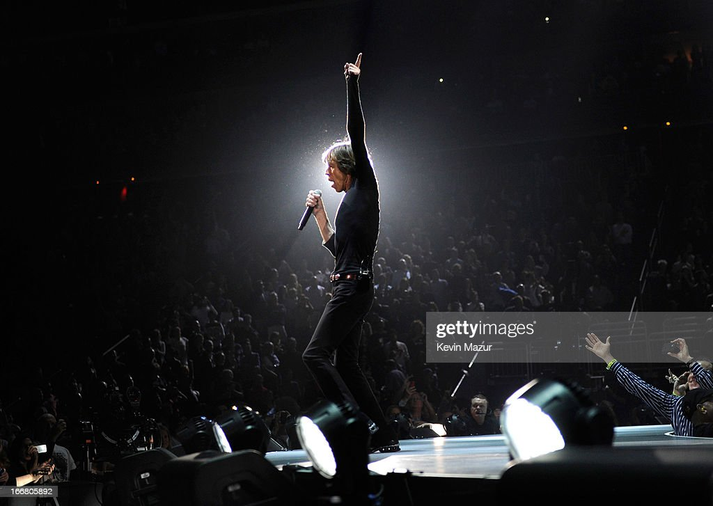 <a gi-track='captionPersonalityLinkClicked' href=/galleries/search?phrase=Mick+Jagger&family=editorial&specificpeople=201786 ng-click='$event.stopPropagation()'>Mick Jagger</a> of The Rolling Stones perform at Prudential Center on December 13, 2012 in Newark, New Jersey. The Rolling Stones concert this Saturday, December 15, 2012 will be a telecast live worldwide via pay-per-view at 9pm EST/6pm PST.