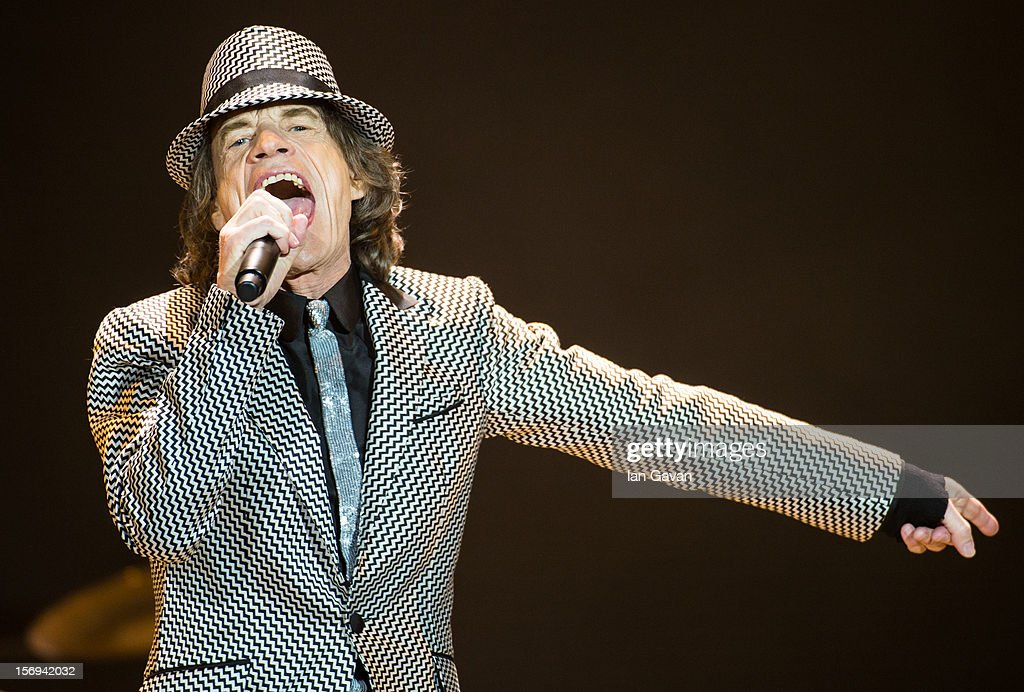 <a gi-track='captionPersonalityLinkClicked' href=/galleries/search?phrase=Mick+Jagger&family=editorial&specificpeople=201786 ng-click='$event.stopPropagation()'>Mick Jagger</a> of The Rolling Stones perform live at 02 Arena on November 25, 2012 in London, England.