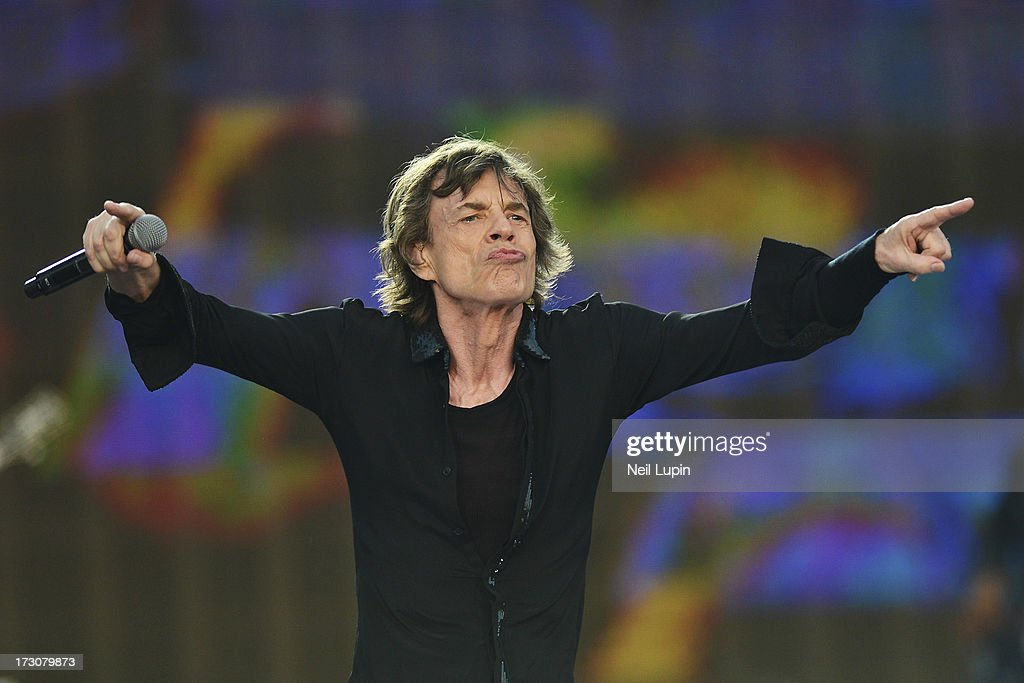 Mick Jagger of The Rolling Stones performs at day 2 of British Summer Time Hyde Park presented by Barclaycard at Hyde Park on July 6, 2013 in London, England.