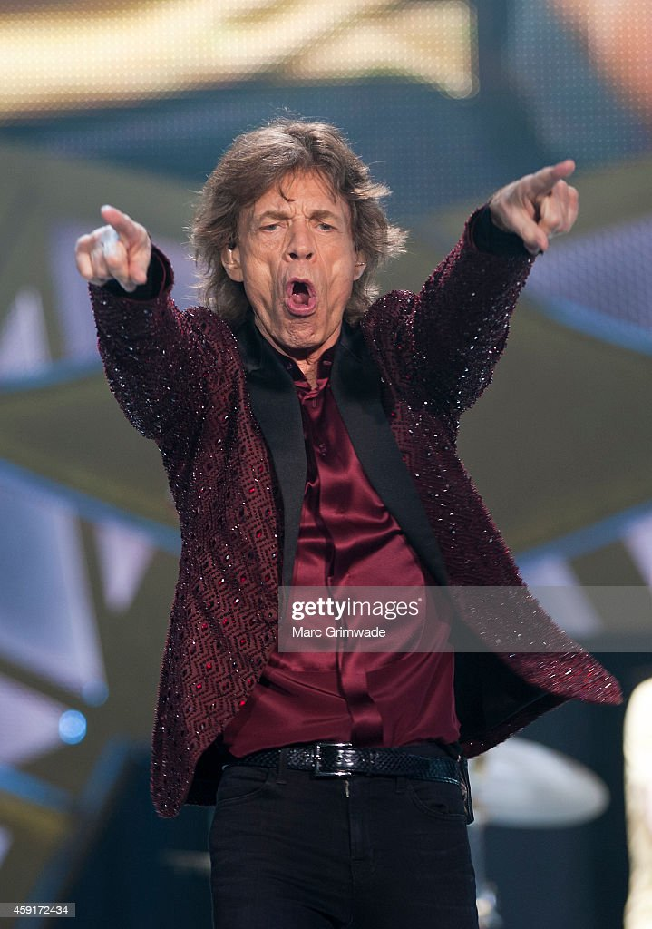<a gi-track='captionPersonalityLinkClicked' href=/galleries/search?phrase=Mick+Jagger&family=editorial&specificpeople=201786 ng-click='$event.stopPropagation()'>Mick Jagger</a> of The <a gi-track='captionPersonalityLinkClicked' href=/galleries/search?phrase=Rolling+Stones&family=editorial&specificpeople=85170 ng-click='$event.stopPropagation()'>Rolling Stones</a> performs live at Brisbane Entertainment Centre on November 18, 2014 in Brisbane, Australia.