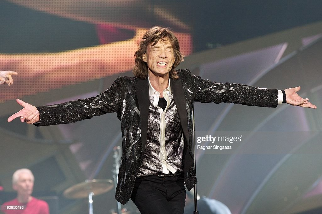 <a gi-track='captionPersonalityLinkClicked' href=/galleries/search?phrase=Mick+Jagger&family=editorial&specificpeople=201786 ng-click='$event.stopPropagation()'>Mick Jagger</a> of The Rolling Stones performs live on stage on May 26, 2014 in Oslo, Norway.
