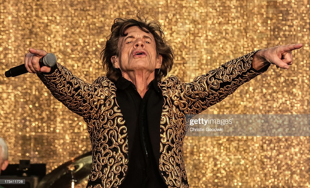 <a gi-track='captionPersonalityLinkClicked' href=/galleries/search?phrase=Mick+Jagger&family=editorial&specificpeople=201786 ng-click='$event.stopPropagation()'>Mick Jagger</a> of The Rolling Stones performs on stage at British Summer Time Festival at Hyde Park on July 13, 2013 in London, England.