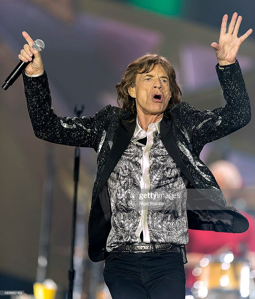 <a gi-track='captionPersonalityLinkClicked' href=/galleries/search?phrase=Mick+Jagger&family=editorial&specificpeople=201786 ng-click='$event.stopPropagation()'>Mick Jagger</a> of The Rolling Stones performs on stage at Telenor Arena during the On Fire Tour 2014 on May 26, 2014 in Oslo, Norway.