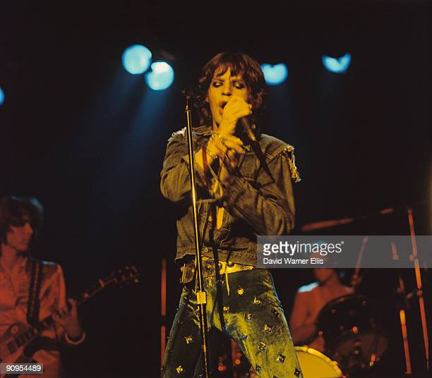 Mick Jagger of the Rolling Stones performs on stage at the Wembley Empire Pool in London England in September 1973