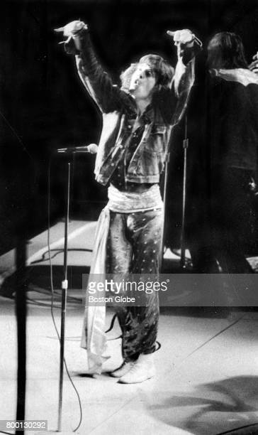 Mick Jagger performs with The Rolling Stones at the Boston Garden in Boston on Jul 19 1972