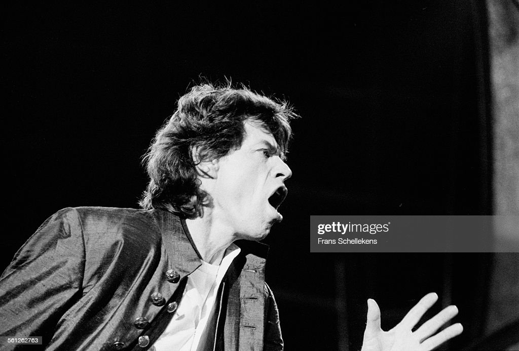 Mick JAGGER vocals performs with Rolling Stones on August 30st 1995 at the Feijenoord Stadium in Rotterdam Netherlands