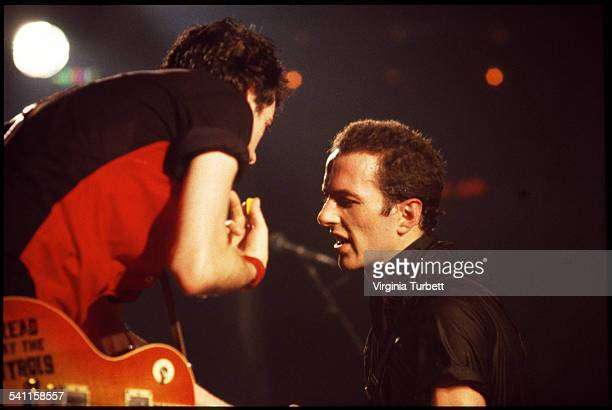 Mick Jones and Joe Strummer of The Clash perform on stage at Hammersmith Palais London United Kingdom 17 June 1980
