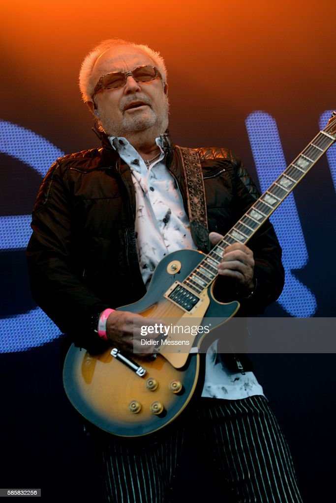 Mick Jones from Foreigner performs during the second day of the Wacken Open Air festival on August 4 2016 in Wacken Germany