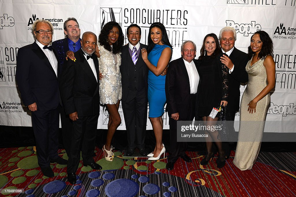 Mick Jones, Jimmy Webb, Berry Gordy; Natalie Cole, Smokey Robinson, Jordin Sparks, Tony Hatch, Patty Smyth, Martin Bandier and Shelea Frazier attend the Songwriters Hall of Fame 44th Annual Induction and Awards Dinner at the New York Marriott Marquis on June 13, 2013 in New York City.