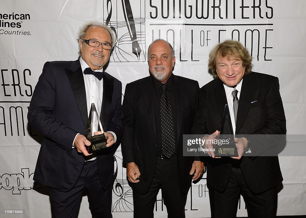 Mick Jones, Lou Gramm of Foreigner and Billy Joel (C) attend the Songwriters Hall of Fame 44th Annual Induction and Awards Dinner at the New York Marriott Marquis on June 13, 2013 in New York City.