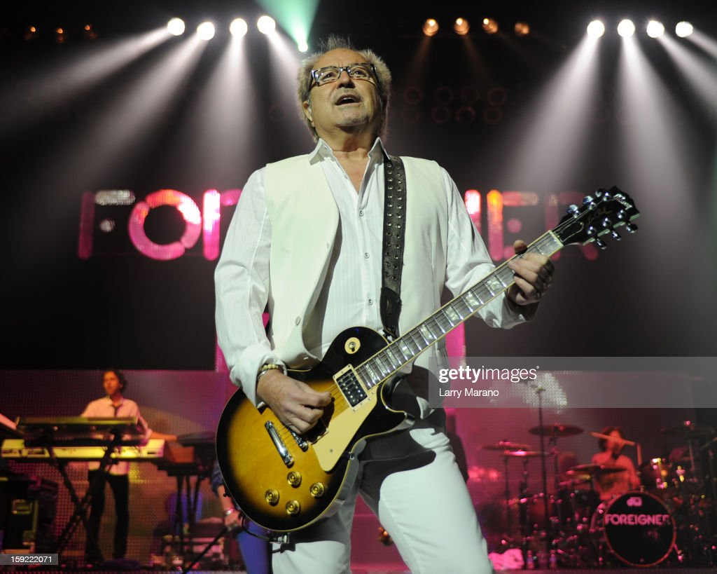 Mick Jones of Foreigner peforms at Hard Rock Live! in the Seminole Hard Rock Hotel & Casino on January 9, 2013 in Hollywood, Florida.