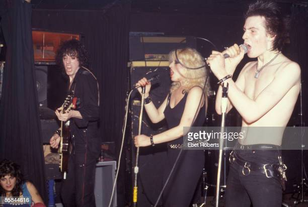 Mick Jones of The Clash Nancy Spungen and Sid Vicious live at Max's Kansas City New York on 7th September 1978