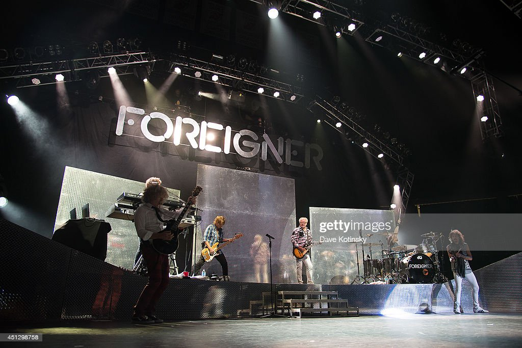 Mick Jones of the group Foreigner performs at Prudential Center on June 26, 2014 in Newark, New Jersey.