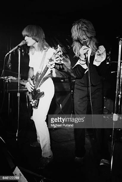 Mick Karn and David Sylvian performing with English new wave group Japan New York November 1978