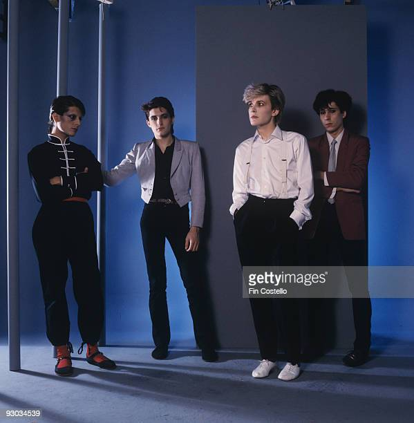 Mick Karn Steve Jansen David Sylvian and Richard Barbieri of Japan in London England in August 1981