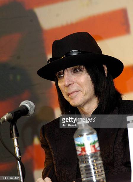 Mick Mars during Motley Crue Press Conference December 6 2004 at Hollywood Palladium in Los Angeles California United States