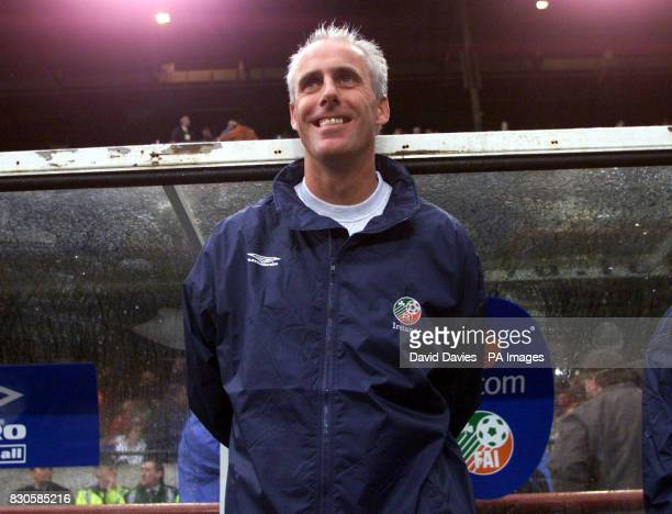 Mick McCarthy in charge of the Republic of Ireland for the 50th time during the World Cup Qualifying game at Lansdowne Road Dublin * 3/11/01 Mick...