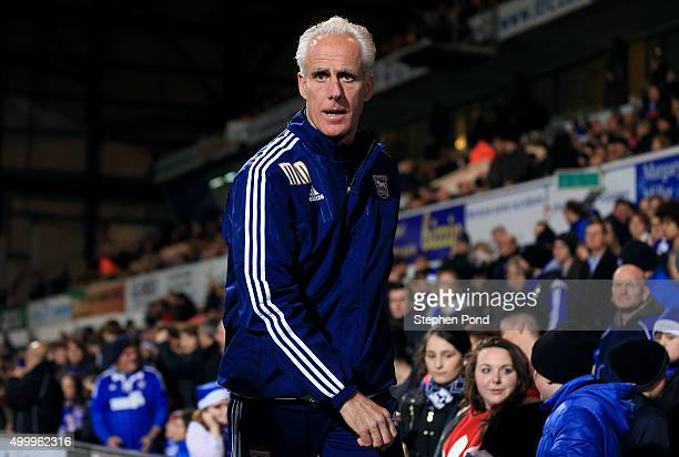 Mick McCarthy Manager of Ipswich Town looks on during the Sky Bet Championship match between Ipswich Town and Middlesbrough at Portman Road stadium...