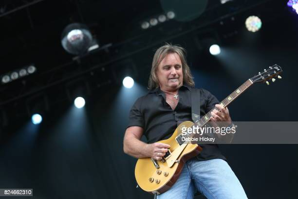 Mick McConnell of Smokie performs during Punchestown Music Festival at Punchestown Racecourse on July 30 2017 in Naas Ireland