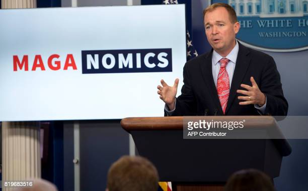 Mick Mulvaney Director of the Office of Management and Budget speaks about 'MAGAnomics' during the daily press briefing in the Brady Press Briefing...