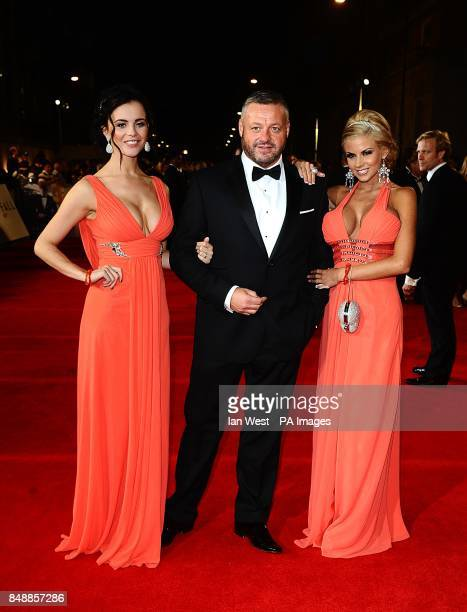 Mick Norcroft and The Sugar Hut Honeys arriving for the Royal World premiere of Skyfall at the Royal Albert Hall London