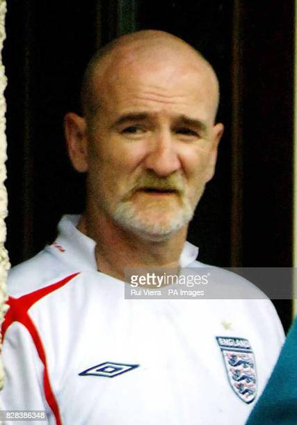 Mick Philpott stands outside his council home in Allenton Derby which the fatherof14 claims is too cramped to accommodate his clan Tuesday March 14...