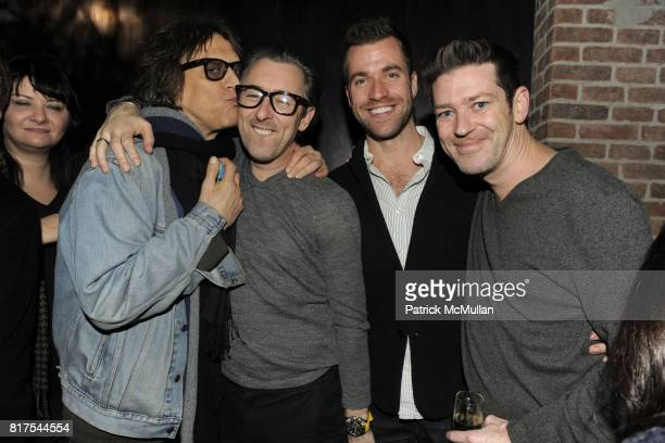 Mick Rock Alan Cumming Rob McGarry and Eddie Roche attend VINCE and GOODS FOR GOOD Holiday Party with RUFUS WAINWRIGHT at Vince on December 21 2010...