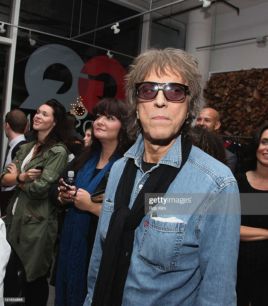 <a gi-track='captionPersonalityLinkClicked' href=/galleries/search?phrase=Mick+Rock&family=editorial&specificpeople=236042 ng-click='$event.stopPropagation()'>Mick Rock</a> attends GQ, Chrysler, And John Varvatos Celebrate The Launch Of The 2013 Chrysler 300C on September 11, 2012 in New York City.
