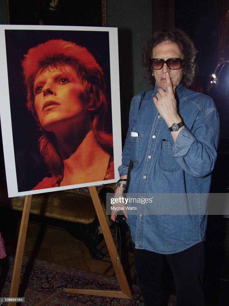 Mick Rock during Mick Rock Book Launch Party for Moonage Daydream: The Life and Times of Ziggy Stardust at National Arts Club in New York, New York, United States.