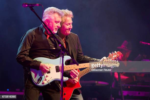 Mick Rogers and Robert Hart of Manfred Mann's Earthband perform at Admiralspalast on April 20 2017 in Berlin Germany