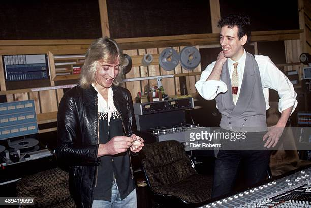 Mick Ronson and Mick Jones of The Clash working with Ian Hunter at the Power Station in New York City on February 13 1981