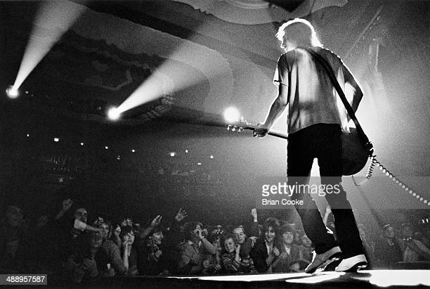 Mick Ronson playing with the Hunter Ronson Band at the Hammersmith Odeon on 22nd November 1979