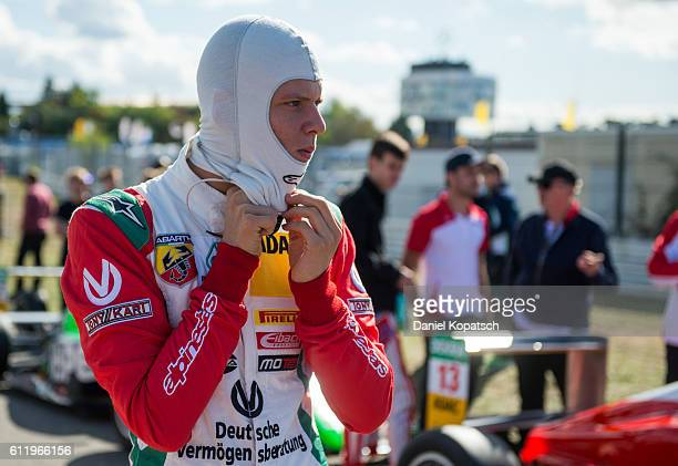 Mick Schumacher looks on prior to the third race of ADAC Formula 4 at Hockenheimring on October 2 2016 in Hockenheim Germany