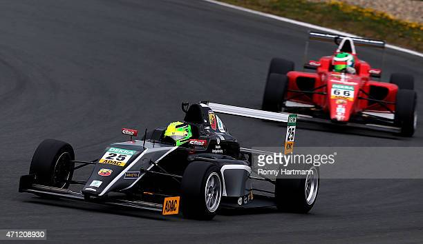 Mick Schumacher of Germany and Van Amersfoort Racing drives during the ADAC Formula 4 race two at Motorsport Arena Oschersleben on April 26 2015 in...