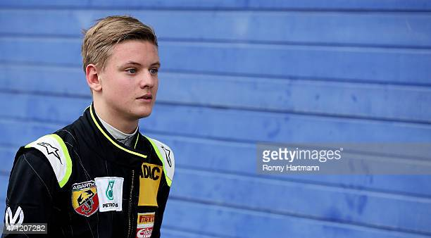 Mick Schumacher of Germany and Van Amersfoort Racing walks through the pit lane after the ADAC Formula 4 race two at Motorsport Arena Oschersleben on...