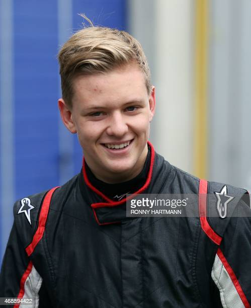 Mick Schumacher son of former F1 champion Michael Schumacher walks through the pit lane during the first day of the ADAC Formula Four preseason tests...