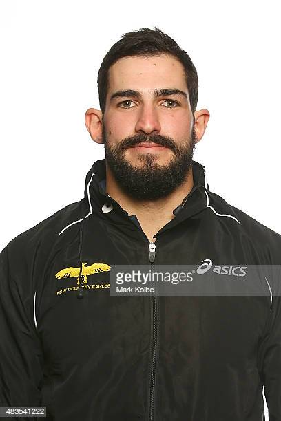 Mick Stephens poses during the NSW Country Eagles Headshots Session at the NSW Rugby Union Offices on August 10 2015 in Sydney Australia