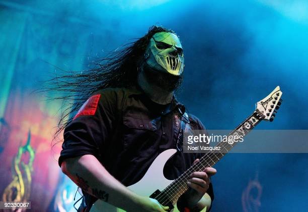 Mick Thomson of Slipknot performs at the Cypress Hill's Smokeout at the San Manuel Amphitheater on October 24 2009 in San Bernardino California
