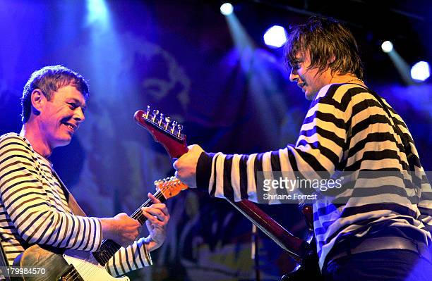 Mick Whitnall and Pete Doherty of Babyshambles perform at Manchester Academy on September 7 2013 in Manchester England