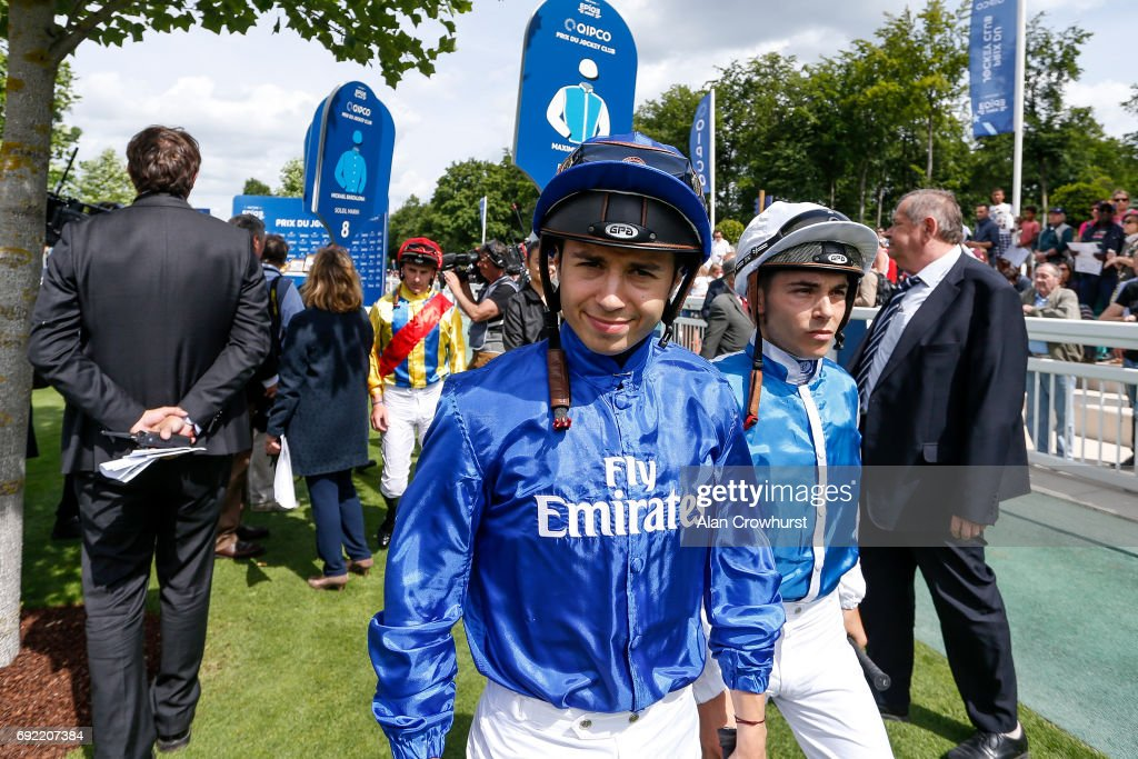 Mickael Barzalona poses at Chantilly racecourse on June 4, 2017 in Chantilly, France.