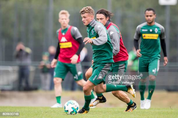 Mickael Cuisance during a training session of Borussia Moenchengladbach at BorussiaPark on July 02 2017 in Moenchengladbach Germany