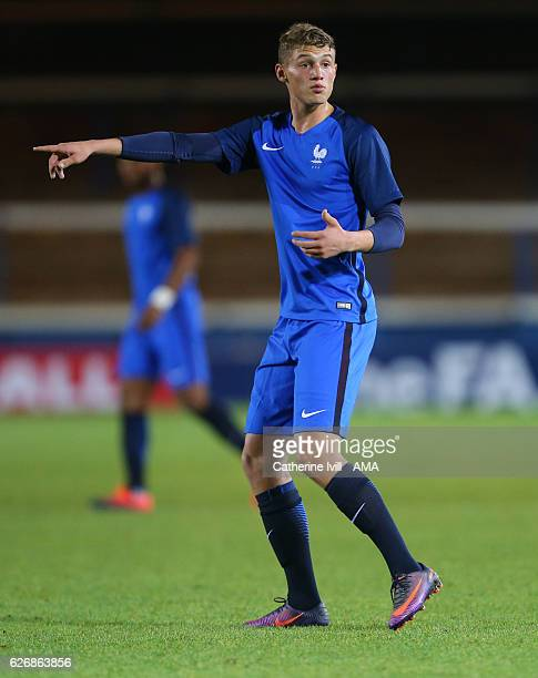 Mickael Cuisance of France U18 during the U18 International Friendly match between England and France at London Road Stadium on November 14 2016 in...